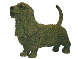 """Basset Hound 21"""" Topiary Sculpture - Wire Frame, Moss Filled or Lighted - $141.99+"""
