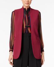 Anne Klein Double Weave Open Front Vest Manzanita size 2 - $19.59