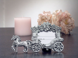 25 Silver Cinderella Princess Coach Place Card Frame Sweet 15 16 Quince ... - $67.48