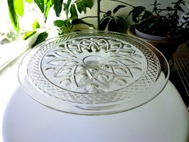 "Imperial Glass Cape Cod Clear Footed Cake Plate 10 1/2"" Wide - $19.80"
