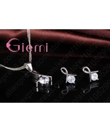 New Fashion Jewelry Set for Women Girls Cross CZ Real Pure 925 Sterling ... - $11.28