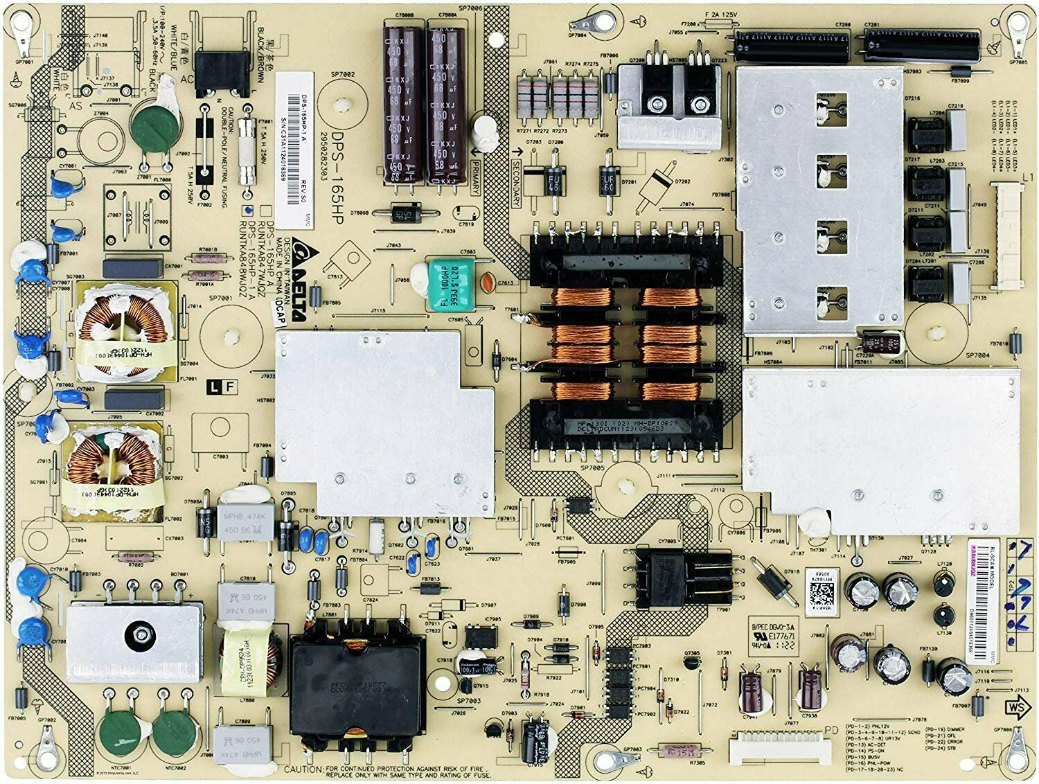 Primary image for Sharp RUNTKA848WJQZ PCB-POWER SUPPLY/DRIVE