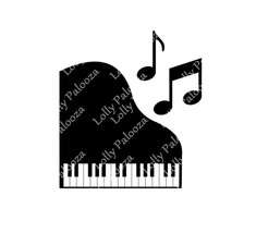 Piano and Music Notes DIGITAL Files.  Instant Download. PNG and SVG Files.  No P