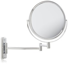 New Wall Mounted Chrome Shaving Make Up Vanity Mirror 8X Magnification 2... - $56.11
