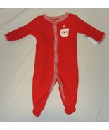NEW Carters Baby First Christmas Size 3M Cotton Red Pajamas w/Feet Unise... - $9.89