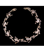 """8"""" Kiss a FROG sterling bracelet - Vintage signed jewelry - fairytale To... - $85.00"""