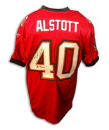 """Autographed Mike Alstott Authentic Reebok Red Jersey inscribed"""" A-Train"""" - $295.00"""