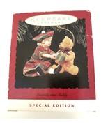 2 Hallmark Keepsake Ornaments Lucinda & Teddy  & Kris and the Kringles  - $11.30