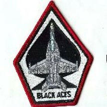 "4.5"" USAF AIR FORCE VFA-41 COFFIN WHIT RED BLACK ACES EMBROIDERED JACKET... - $18.99"