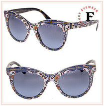 DOLCE & GABBANA PRINT FAMILY NEW MAJOLICA On Havana 4311 Sunglasses DG4311S - $222.75