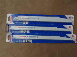 LENOX 106R & 110R  DEMOLITION RECIPROCATING SAW BLADES LOT 3 NEW   5 PIECE - $44.99