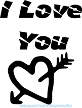 i love you heart arrow printable art jpg png text words clipart digital ... - $1.00
