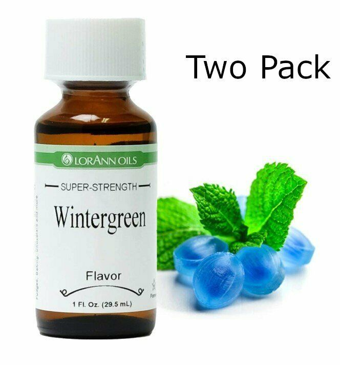 Primary image for 2 Pack- Wintergreen Flavor, LorAnn, 1 oz bottles