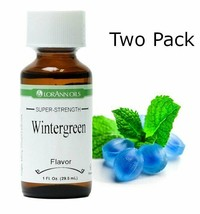 2 Pack- Wintergreen Flavor, LorAnn, 1 oz bottles - $19.00