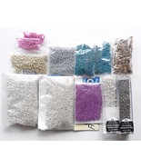 Silver Metallic Finish Glass Seed Bead Lot 2 mm Spacers Jewelry Supplies... - $13.50