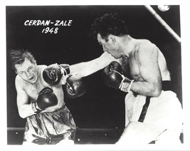 Tony Zale Vs Marcel Cerdan 8X10 Photo Boxing Picture - $3.95