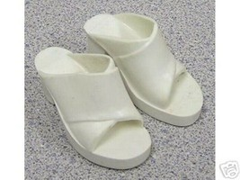 """TIFFANY TAYLOR  WHITE HIGH HEEL SHOES - fit CRISSY, Toni & other 16-19"""" ... - $18.81"""