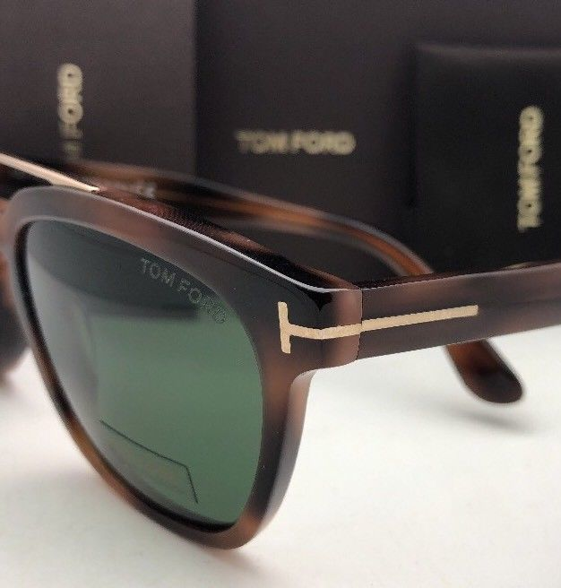 New TOM FORD Sunglasses HOLT TF 516 53N 54-19 145 Tortoise & Gold w/Green Lenses image 7
