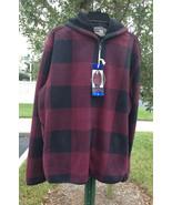 Freedom Foundry Men's Flannel Fleece Lined Jacket Hoody, Red Buffalo , S... - $34.64