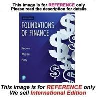 Foundations of Finance by Arthur Keown, John Martin, William Petty, 10th... - $44.90