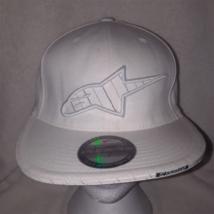 Alpinestars Flexfit White Baseball Hat 3D Logo Small Medium - $14.69