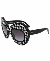 DOLCE & GABBANA LIMITED EDITION DG6108 501/8G Round Sunglasses BLACK WHT... - $204.47