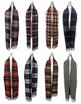 Viyella - Mens Ladies Long Warm Wool Cashmere Scottish Tartan Style Wint... - $74.45