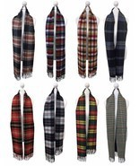 Viyella - Mens Ladies Long Warm Wool Cashmere Scottish Tartan Style Wint... - $96.97 CAD