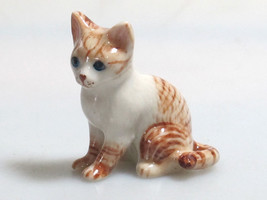 Hand Painted Miniature Collectible Ceramic Porcelain Siamese Tiger Cat F... - $4.70