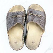 Dr. Martens Women's 6 M Brown Leather Sandals Slides Shoes image 4