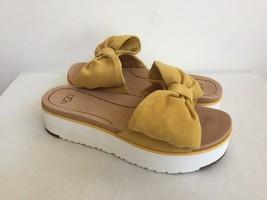 Ugg Joan Sunflower Platform Wedge Slide Leather Slipper Us 7 / Eu 38 / Uk 5.5 - $88.83