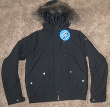 Columbia Womens Small Hooded New Jacket Grinnell Glacier Black Winter Ski S New - $70.08