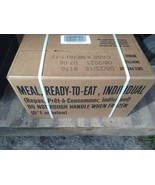 Mre meal ready-to-eat case A menu 1-12 inspection 06/21 survival hiking ... - $116.53