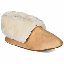Faux-fur Booties Slippers (beige Khaki  S) Club Charter Small 5 6 Mens P... - $19.62