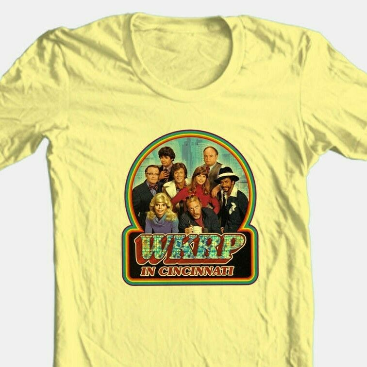 WKRP in Cincinnati T shirt 70's 80's retro Disco TV Land 100% cotton graphic tee