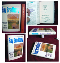 RAY BRADBURY !!!  QUICKER THAN THE EYE  signed copy, first edition, mint. - $78.39
