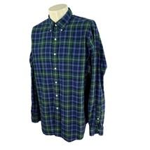 Ralph Lauren Polo Men's Classic Fit Long Sleeve Cotton Navy Blue Check S... - $19.78