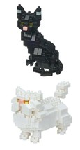 Nanoblocks - 2 Cat Sets - Black Cat and Persian Cat Sets  - $22.76