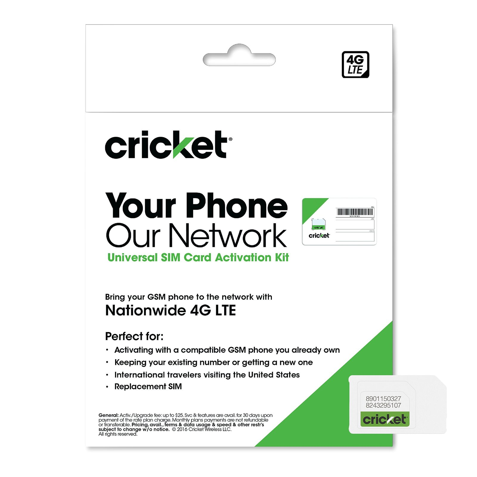 Cricket Wireless 3-in-1 SIM Card Kit