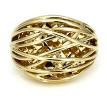 Women's Cage Dome Ring in 14k Yellow Gold - $568.40