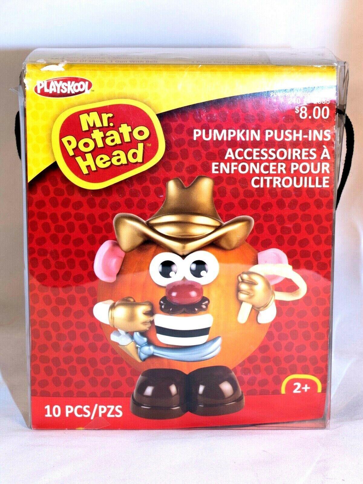 Halloween Mr Potato Head Pumpkin Push In Cowboy Costume 10 Parts NIB
