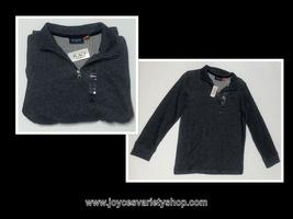 Children's Place Boy's Shirt Long Sleeve Gray Pull Over Sz 10/12 - $10.99