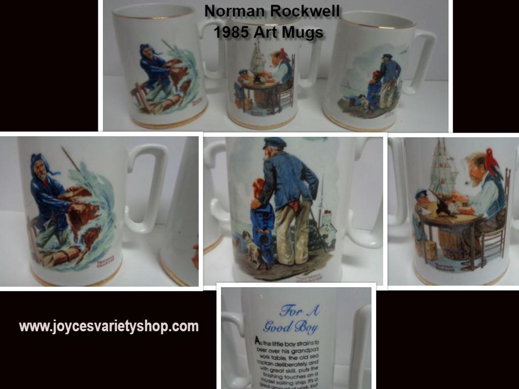Norman rockwell mugs web collage