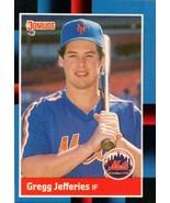 Gregg Jefferies 1988 Donruss  Rookie #657 METS - $14.70