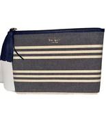 New Kate Spade New York Larchmont Avenue Fabric Stripe Gia Clutch WLRU52... - $49.00