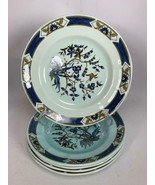 "SET 5 Ming Toi Calyx Ware Adams English Ironstone 8.25"" Plates Art Deco NICE! - $27.71"