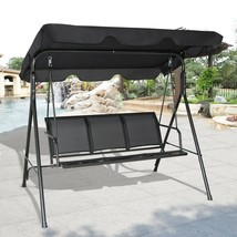 Outdoor Patio 3 Person Swing w/ Canopy Porch Waterproof  Free Shipping - $128.99