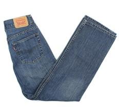 Levis 505 Boys Denim Medium Wash Straight Leg Blue Jeans Youth Sz 14 Reg... - $18.80