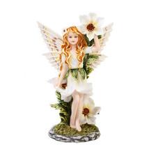 Meadowland Flower Fairy Statue Polyresin Figurine Home Decor - $27.22