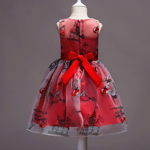 Red Birthday Girl Dress Short  Pricess Wedding Flower Girls Dresses Kids... - £34.86 GBP